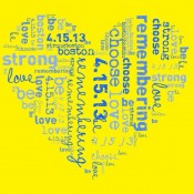 Be #BostonStrong. Please consider making a donation to The ONE Fund to help the victims of the Boston Marathon Tragedy.