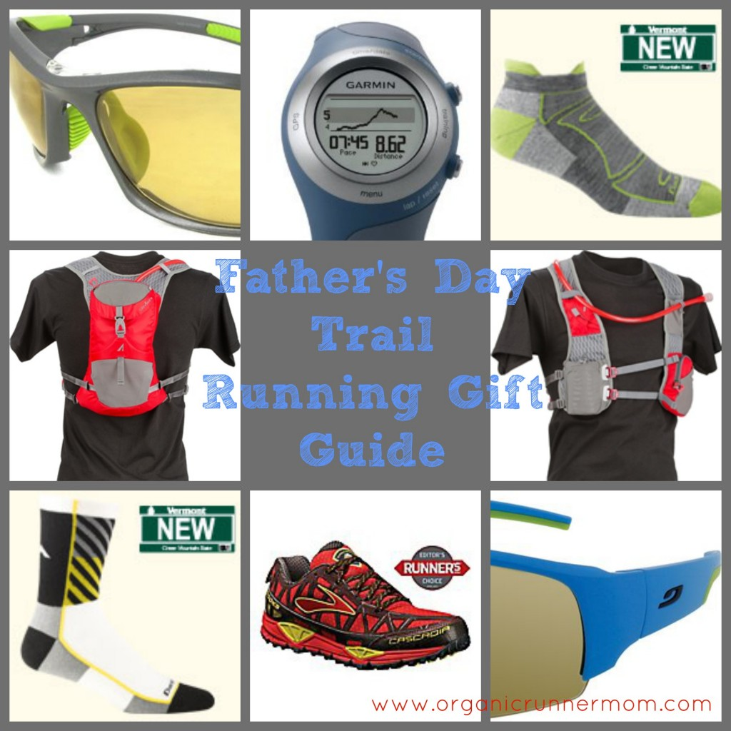 Trail Running Gifts for the active Dad. UltrAspire, Road Runner Sports, Garmin, Darn Tough Socks, JULBO USA Sunglasses